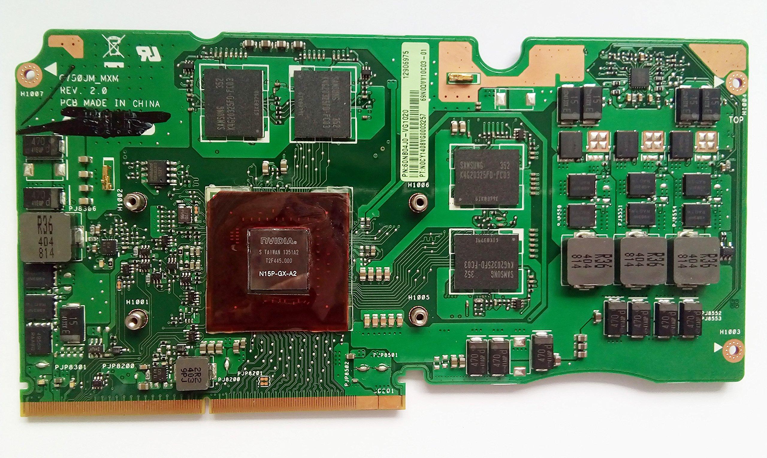 2G Laptop VGA Graphic Card N15P-GX-A2 for Asus ROG G750JM Laptop Video card Graphic VGA GeForce GTX 60NB04J0-G1020