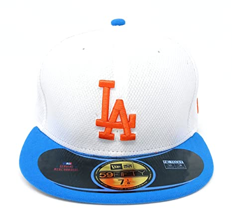 d501b3968e9 New Era MLB Los Angeles Dodgers Diamond Era POP 59FIFTY Fitted Cap  (White Royal