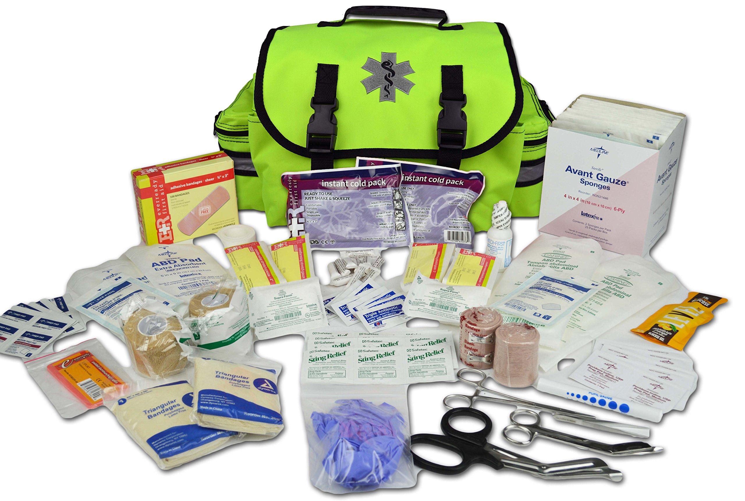 Lightning X Small Medic First Responder EMT Trauma Bag Stocked First Aid Trauma Fill Kit A by Lightning X Products