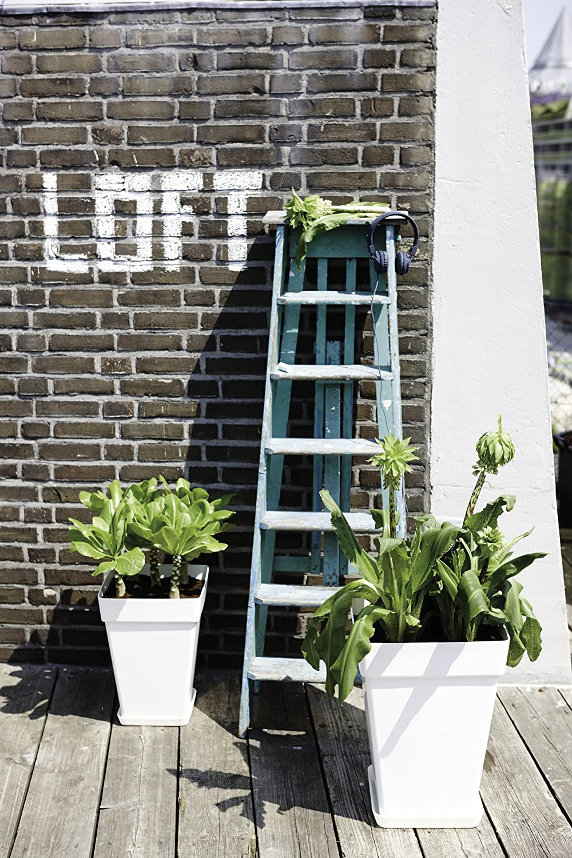 22.2x22.2x3.1 cm Elho Loft Urban Square Sottovaso Antracite