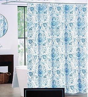 Amazon.com: Cynthia Rowley Fabric Shower Curtain Blue Floral ...