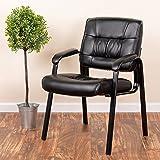 Flash Furniture Black Leather Executive Side