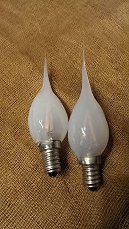 LED 1 watt / 10 watt Equivalent c7 Filament Silicone Light Bulb - Clear /  Pack of 2