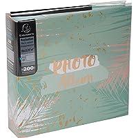 Exacompta 62222E - Álbum de Fotos con Fundas, 200 Fotos de 10 x 15 cm, 100 páginas, Formato 22,5 x 32,5 cm, álbumes…