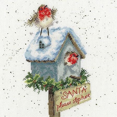 Babbo Natale Punto Croce.Bothy Threads Kit Per Punto Croce Motivo Babbo Natale Amazon It Casa E Cucina