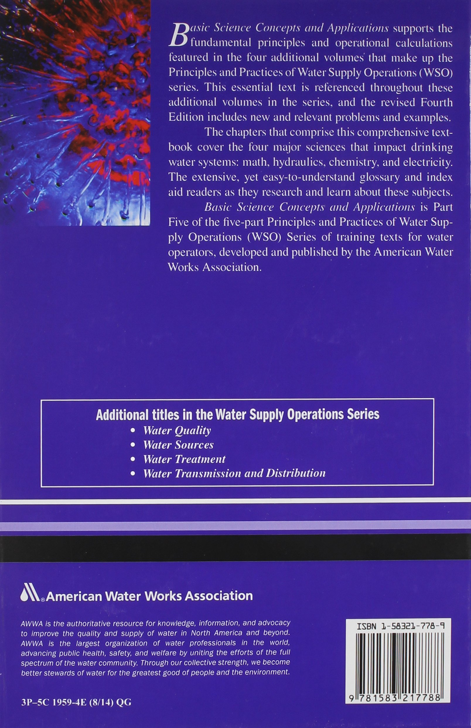 WSO Basic Science Concepts and Application: Principles and Practices of Water Supply Operations by Brand: American Water Works Assn