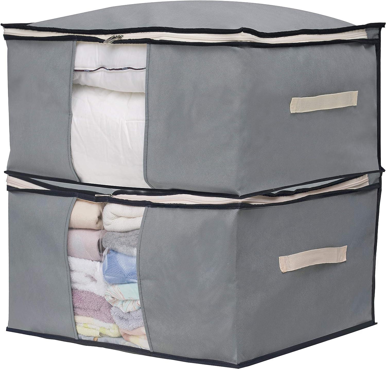 L Clothes Storage Bag Organizer Blankets Bedding Luggage Bins Box Container US