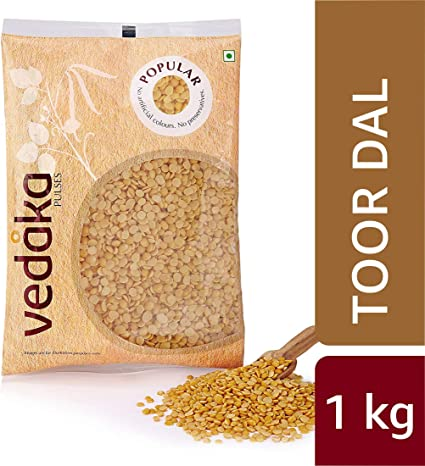 Amazon Brand - Vedaka Popular Toor Dal, 1kg