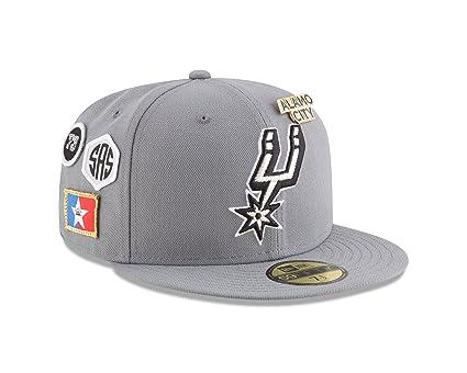 7172c42baae2fd New Era San Antonio Spurs 2018 NBA Draft Cap 59Fifty Fitted Hat - Gray (7