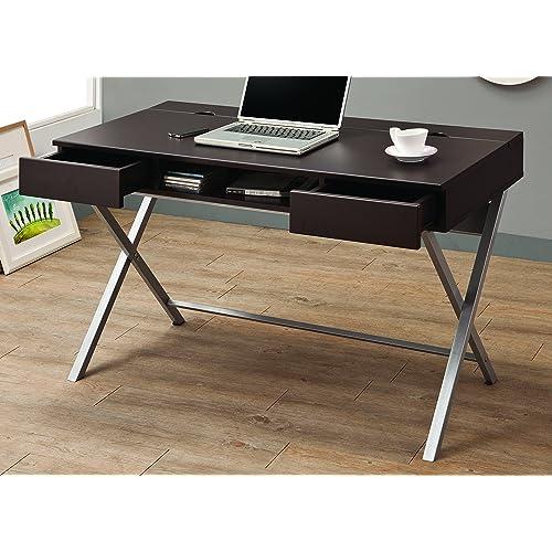 Contemporary Computer Desk Amazon Com