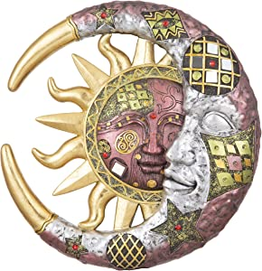 George S. Chen Imports 7863047 Polyresin Home Decor Mosaic-Sun Face 11