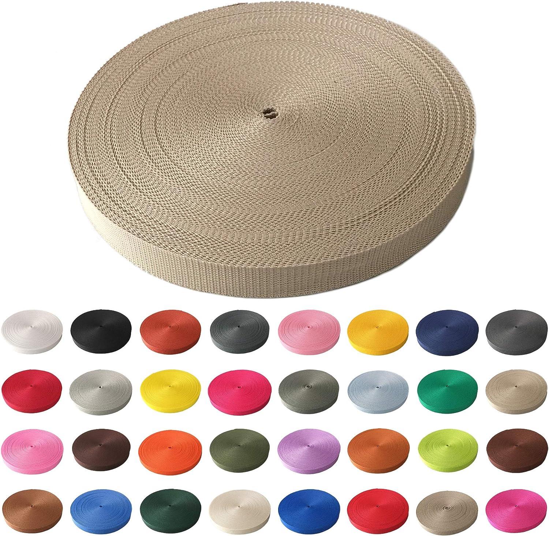viele Verschiedene Breiten und Farben 10mm 15mm 20mm 25mm 30mm 40mm 50 mm pink, 10 mm Schnoschi Gurtband Polypropylen 20 Meter lang