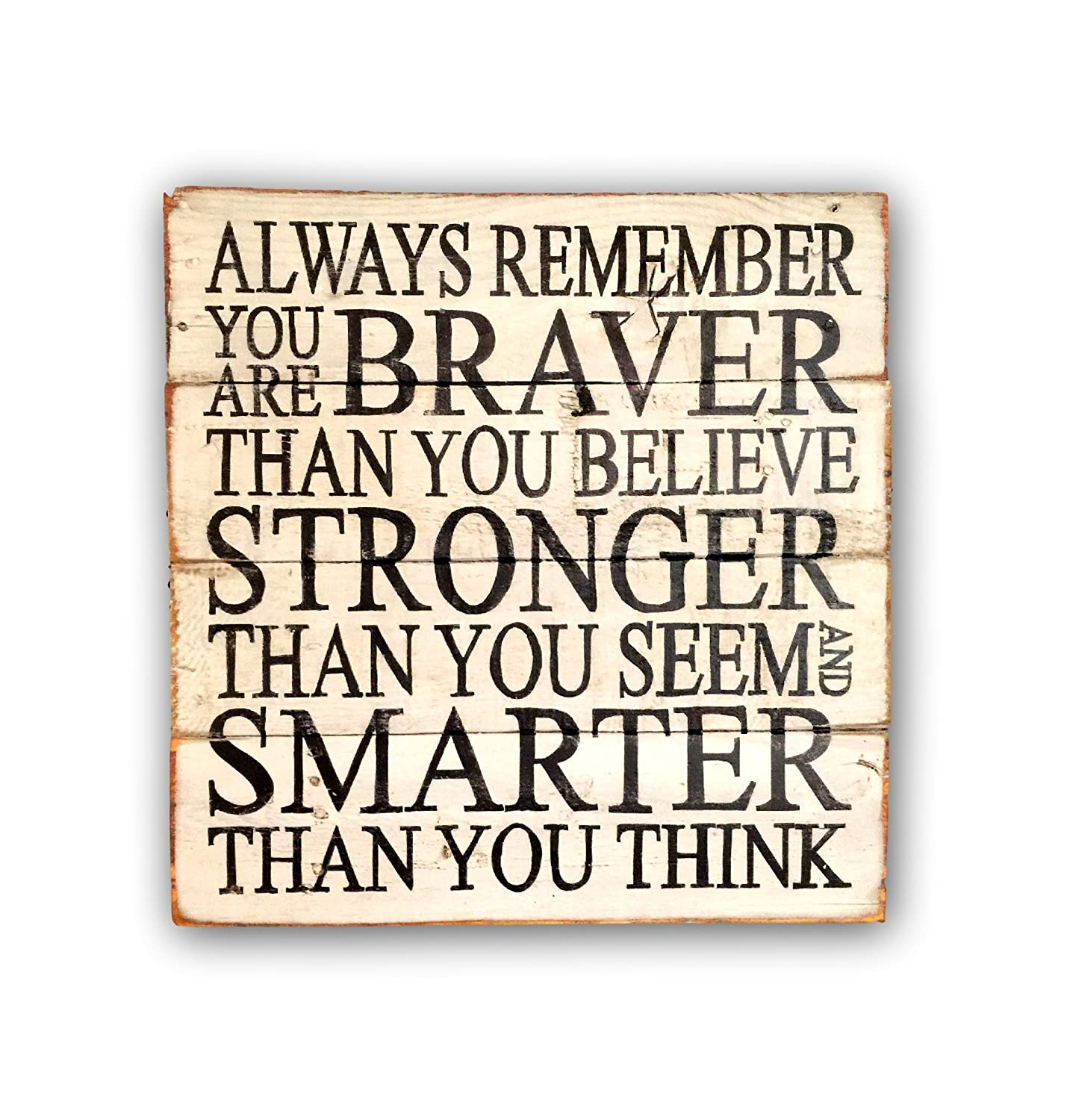 Always Remember You Are Braver Than You Believe Sign / Wood Nursery Sign / Pallet Sign