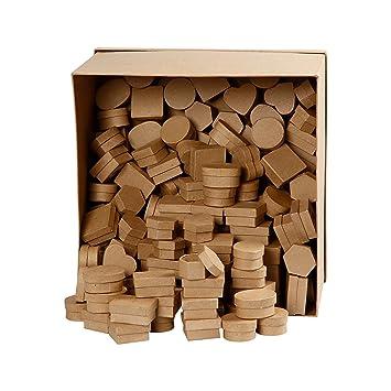 Mini de cajas, 144 unidades), 6 diseños, papel maché, cajas regalo latas: Amazon.es: Oficina y papelería