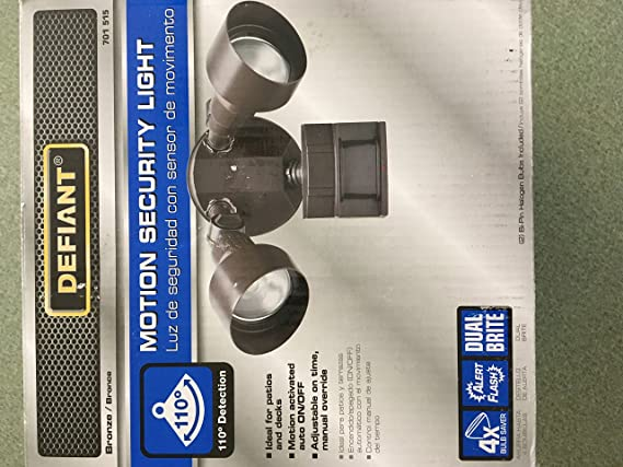 Amazon.com: Defiant 110 Degree Outdoor Bronze Motion Security Light: Electronics