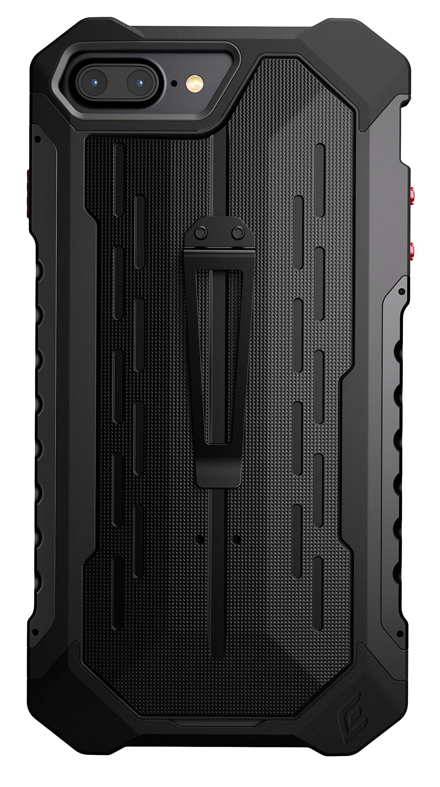 Element Case Black Ops Mil-Spec Drop Tested Case for Apple iPhone 8 Plus and 7 Plus - Black (EMT-322-134EZ-01)