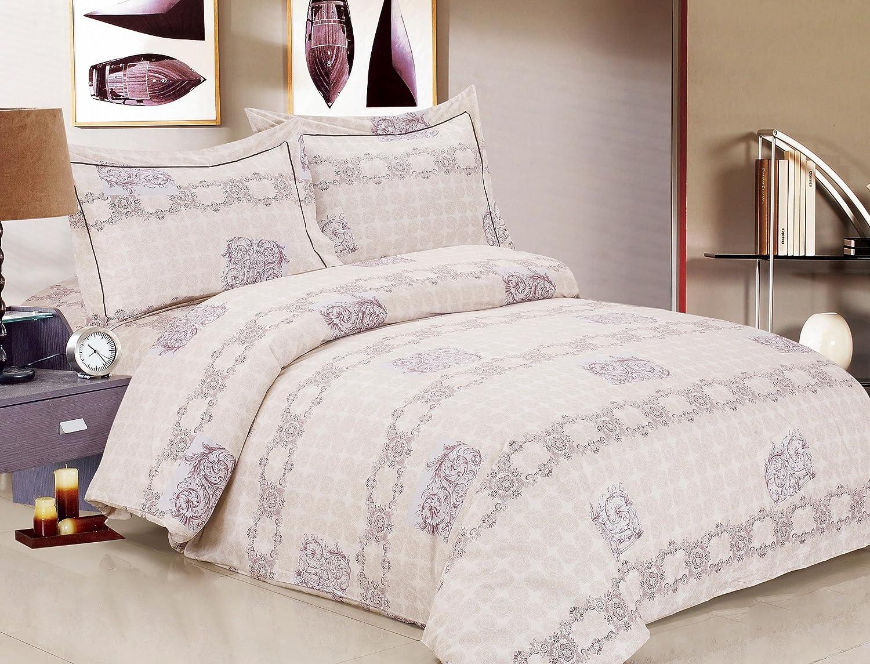 Violet Linen French Heritage Collection 6 Full Duvet Set 54