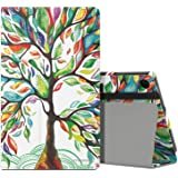 MoKo Case for Fire HD 8 2016 Tablet - Slim Folding Stand Cover with Auto Wake / Sleep for Amazon Fire HD 8 (Previous 6th Generation - 2016 Release ONLY), Lucky TREE