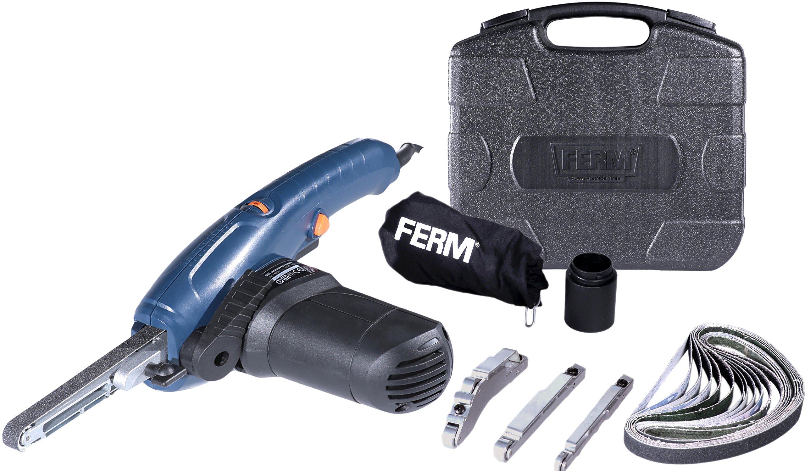 Ferm EFM1001 Lijadora de Banda de Precisión (400 W), 230 V, Set