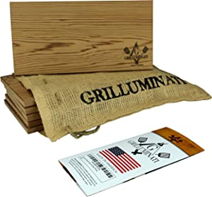 Cedar Planks for Grilling - 6 Pack - Perfect for Salmon, Chicken, Veggies, and More - Thicker, Reusable Wood Planks