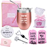 Yorktend You're Awesome Keep That Up - Thank You Gifts New Job Congratulation Graduation Inspirational,Birthday Gifts for Women Friends, Coworkers - 12oz Wine Tumbler with Lid,Straw,Coaster