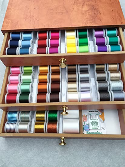 32 Thread Spools and 28 Sewing Bobbins Travel Kit HEOMU 60 Piece Sewing Thread Robbins Kit Multi-color Polyester