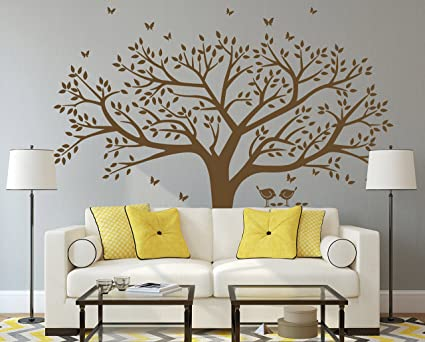 Amazoncom Anber Family Tree Wall Decal Butterflies And Birds Wall