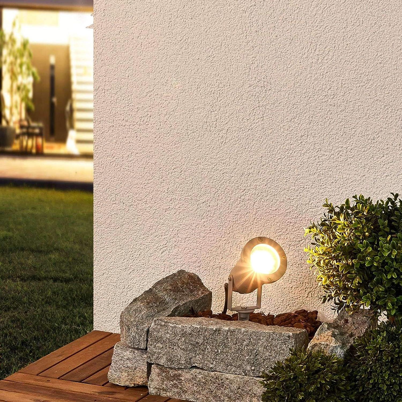 Moderne Luminaire d/'ext/érieur Lampe sur piquet Tomislav en Gris en Aluminium de Lampenwelt 1 lampe,/à GU10, A++