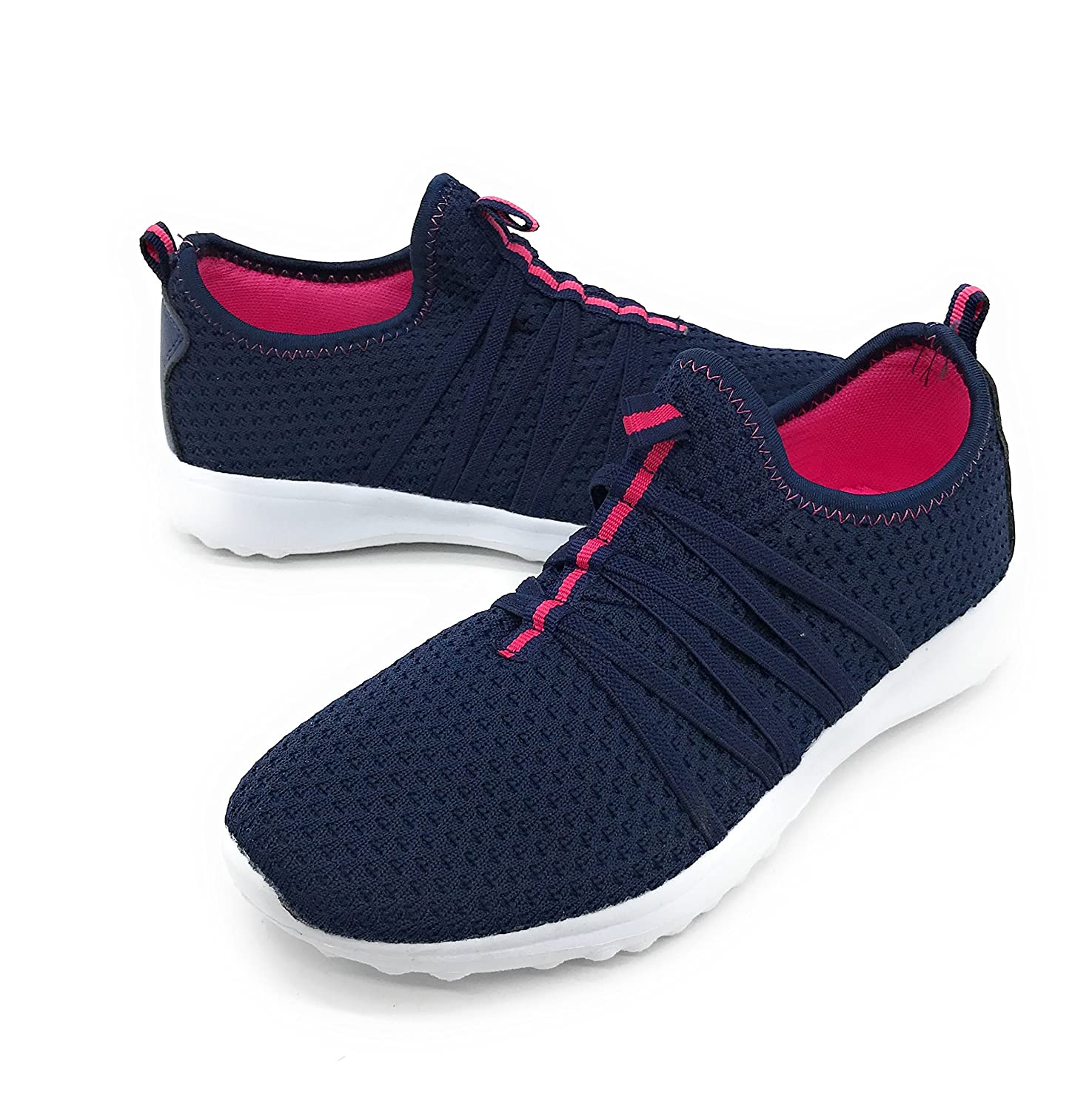 Blue Berry EASY21 Women Casual Fashion Sneakers Breathable Athletic Sports Light Weight Shoes B079VV3QGB 7 B(M) US|Navy01