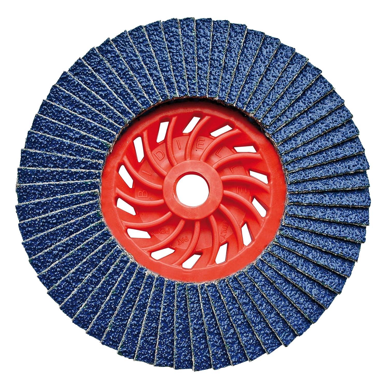 Osborn Dronco 5111159100 Special J-AZ A Flap Disc, Zirconium Corundum, Straight, 120 Grit Size, 115 mm Diameter x M14 mm Hole, 13280 rpm J-AZA-115/12