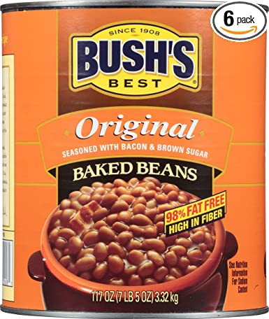 Amazon Com Bush S Best Original Baked Beans 117 Oz 6 Cans Grocery Gourmet Food