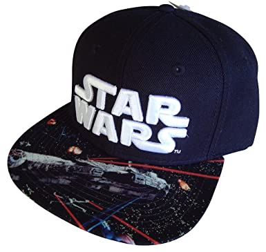 Image Unavailable. Image not available for. Color  Star Wars Logo Millenium  Falcon Black Adult Snapback Hat d65c175338