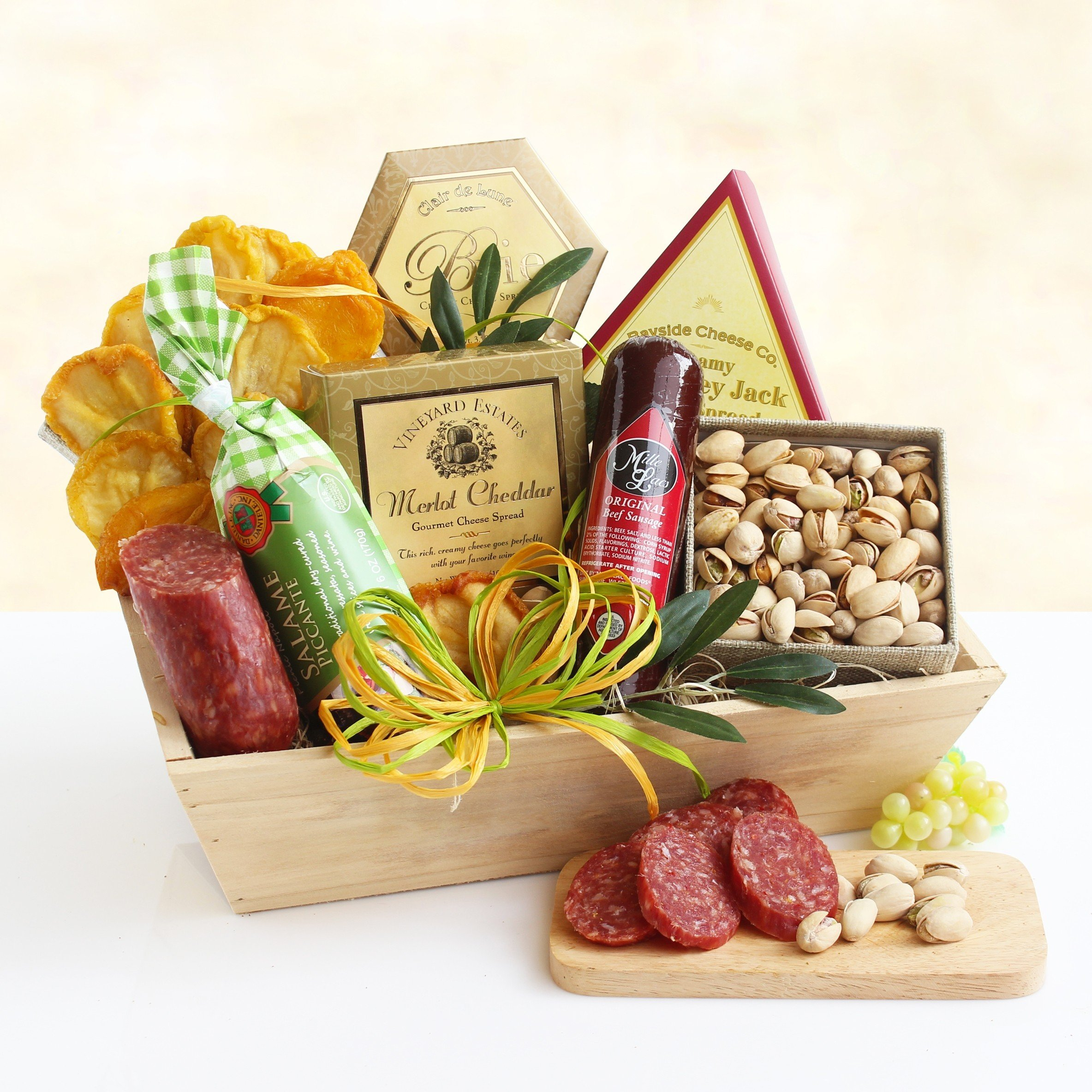 Birthday Gift Basket | Meat, Cheese, Nuts and Dried Fruit