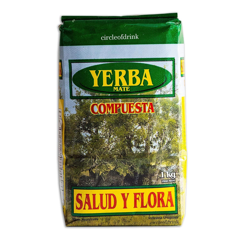 Circle of Drink - Salud y Flora Compuesta - Uruguayan Yerba Mate Blend - Improves Digestion - Relax Muscles - 2.2. LBS (1KG)