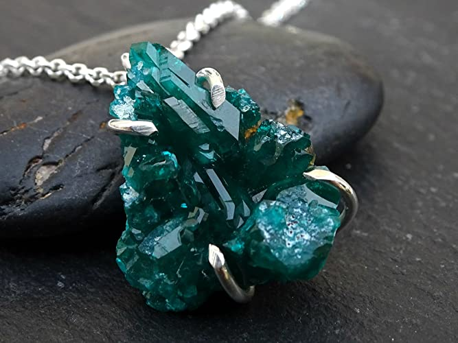 Amazon raw dioptase necklace green dioptase pendant minimalist raw dioptase necklace green dioptase pendant minimalist rough dioptase crystal cluster pendant natural aloadofball Gallery