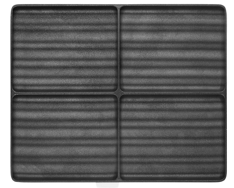 lagrange Jeu de plaque de 2 Croque-monsieur avec Revêtement pour Gaufrier Super 2 Noir 3196200304226