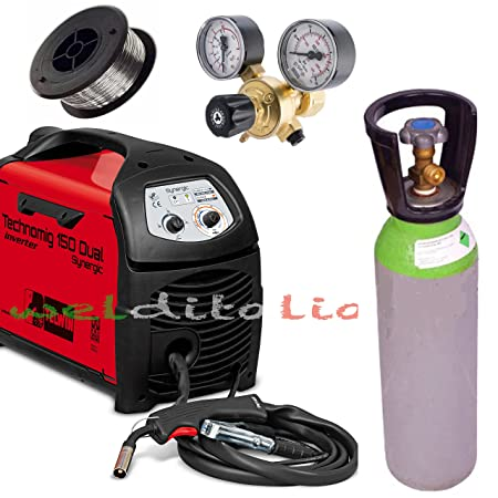 Welding Wire Inverter TELWIN technomig 150 A Dual Synergic Cylinder Mixture  AR CO2 5 Lt.  Amazon.co.uk  DIY   Tools 0d963798135f