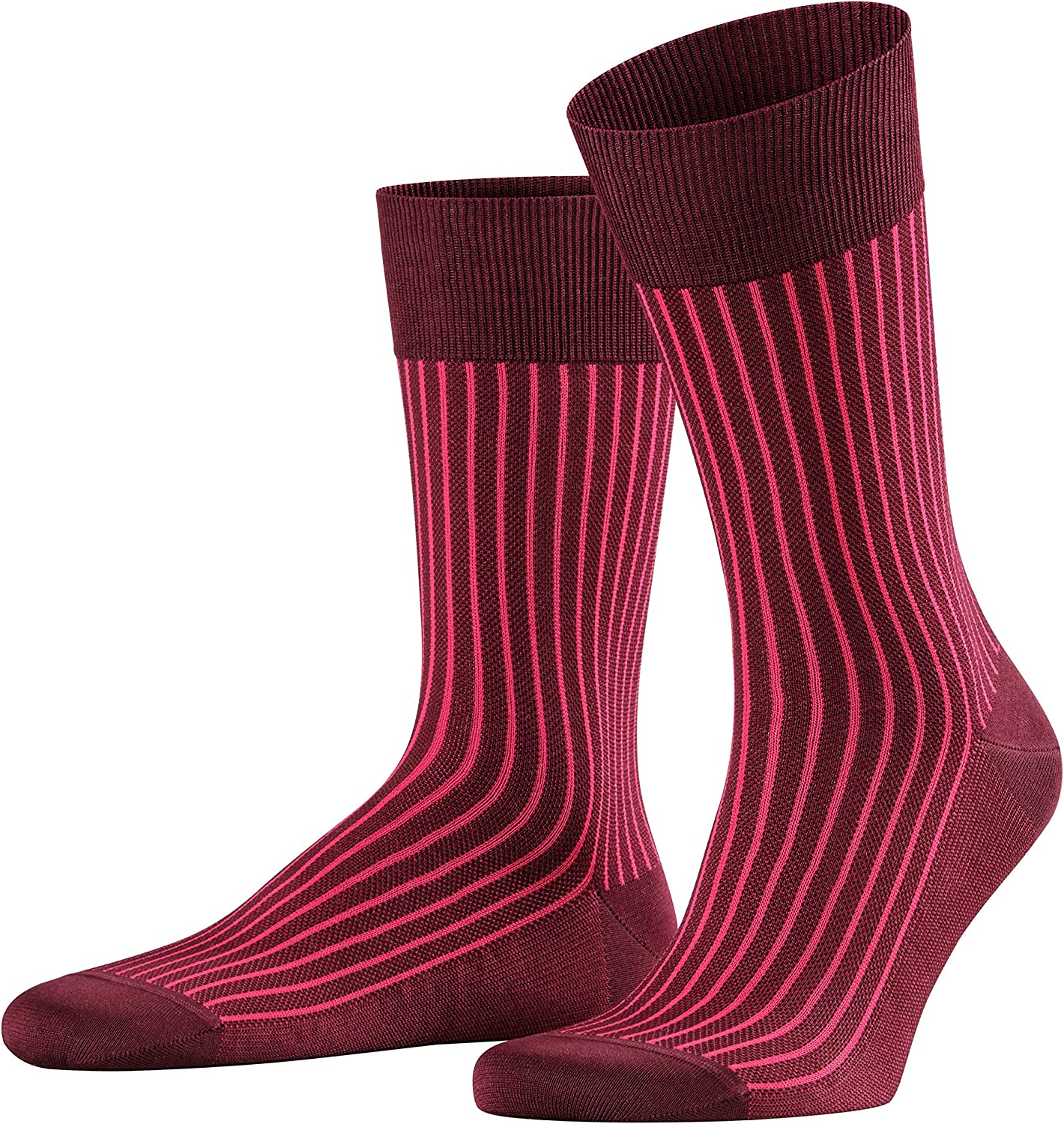 FALKE Mens Oxford Stripe Casual Sock - Cotton Rich, Multiple Colors, US sizes 6.5 to 13.5, 1 Pair