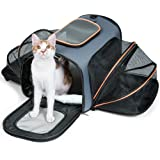 F-color Pet Carrier for Dogs & Cats - Airline Approved Expandable Soft Animal Carriers by, TWO SIDES Expansion, Extra Spacious Soft Sided Air Travel Bag for Designed for Cats, Dogs, Kittens,Puppies