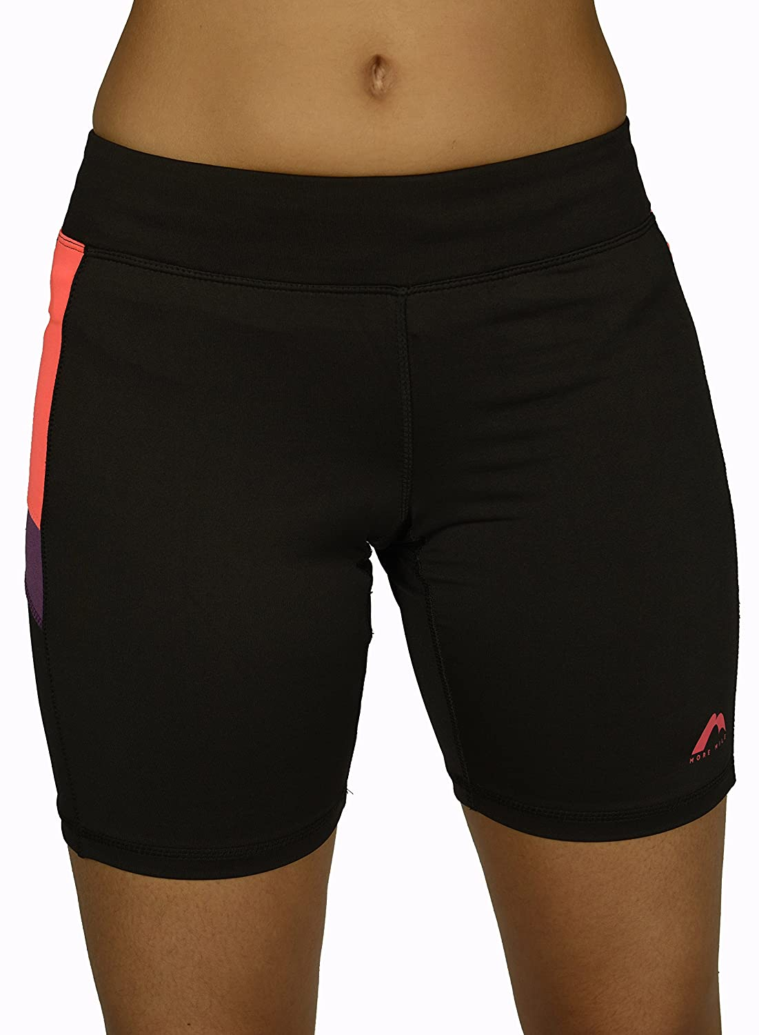 Black More Mile More-Tech Womens Running Tights