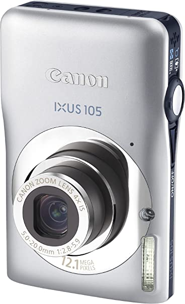Canon Ixus 105 Digitalkamera 2 7 Zoll Silber Kamera