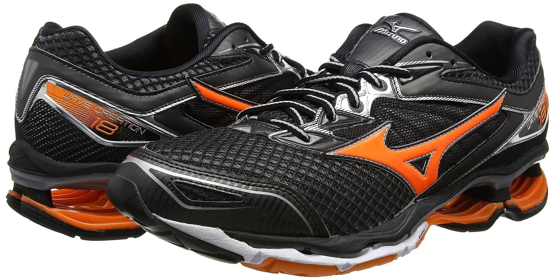 Mizuno Wave Creation 18, Zapatillas de Running para Hombre, Negro (Black/Clownfish/Silver), 43 EU: Amazon.es: Zapatos y complementos