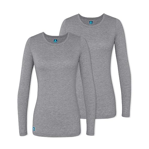 e97febc6746 ADAR UNIFORMS Adar 2 Pack Women's Comfort Long Sleeve T-Shirt/Underscrub Tee  -
