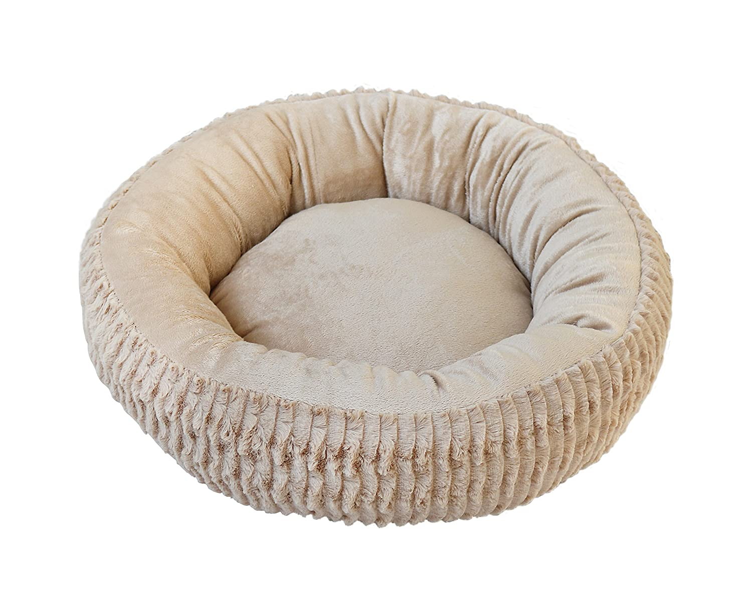 HappyCare Textiles HappyCare Textiles Luxury Fur Round Pet Bed