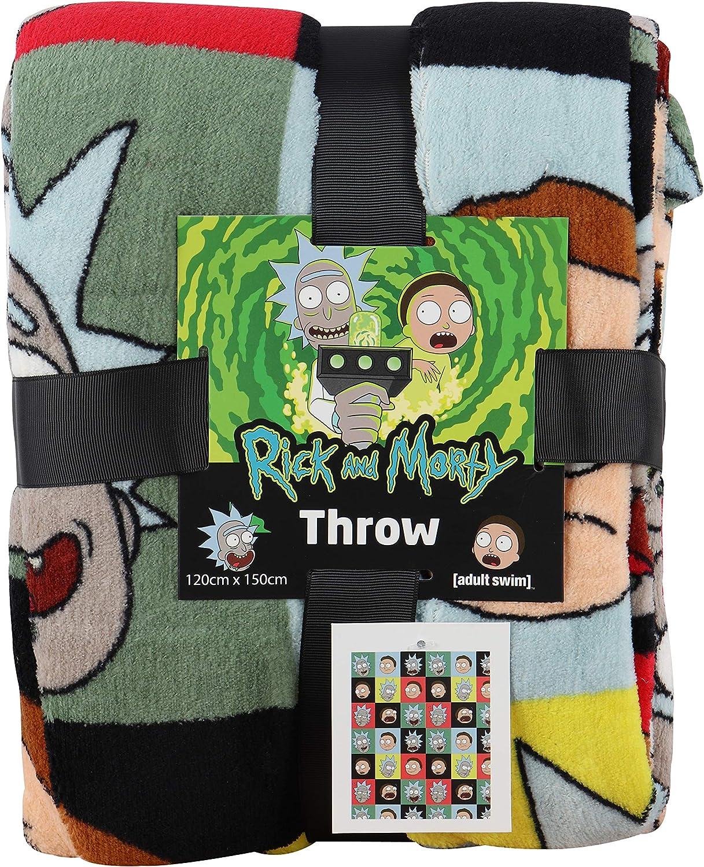ideale come regalo per adolescenti o adulti Coco Moon Rick and Morty coperta in pile