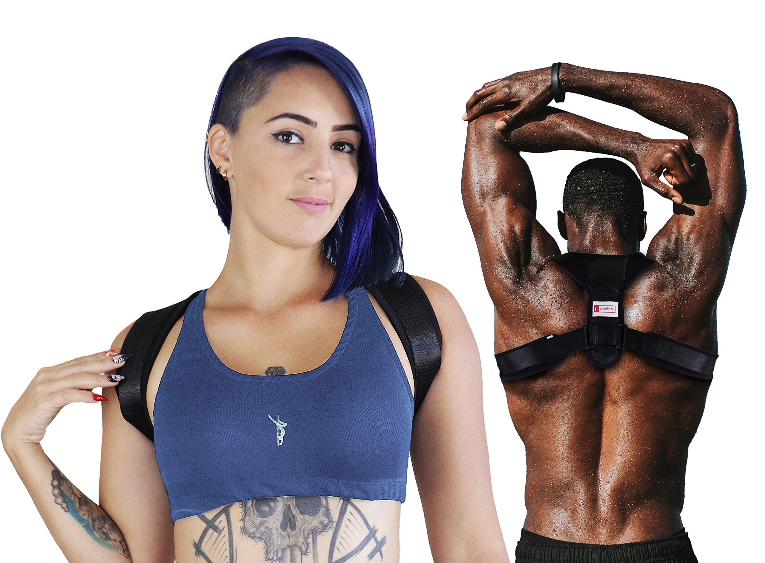 Premium Posture Corrector Best Back Brace for Women and Men | Fully adjustable Clavicle Support Back Straightener | Improve Posture and Relieve Pain for Shoulder Neck Back - FDA Approved