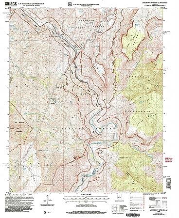 Map Of Arizona Hot Springs.Amazon Com Yellowmaps Verde Hot Springs Az Topo Map 1 24000 Scale