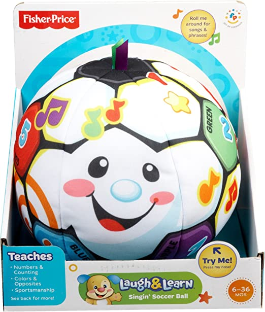 New Free Shipping Fisher-Price Laugh and Learn Singin Soccer Ball