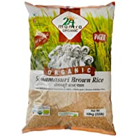 24 Mantra Organic Sonamasuri Raw Rice Brown Organic, 10kg