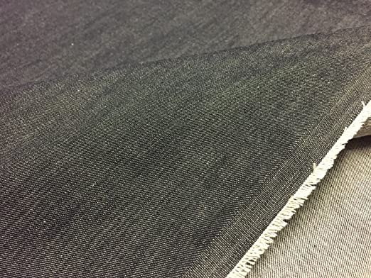 Tela vaquera de 226 g, 160 cm de ancho, elastano de algodón, en gris oscuro con un toque de azul (por metro): Amazon.es: Hogar